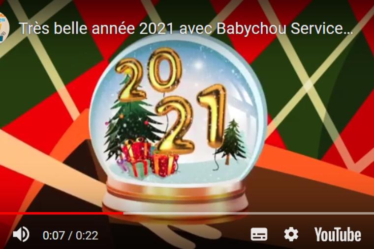 Babychou Services vous souhaite une belle année 2021 !